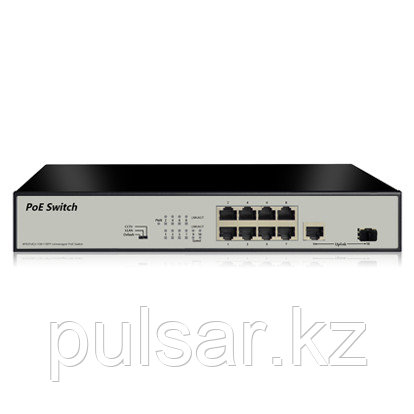 Коммутатор UNIPOE PM3010FSF-120 V2 (8 PoE +1 Uplink + 1 SFP )