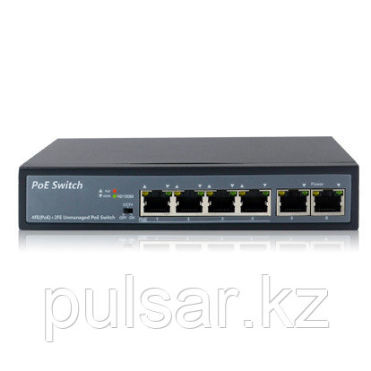 Коммутатор UNIPOE PM3006FSN-V3 (4 PoE + 2 Uplink)