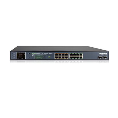 Коммутатор UNIPOE PM3018GSNL-330 V2 (16 PoE + 2 SFP)