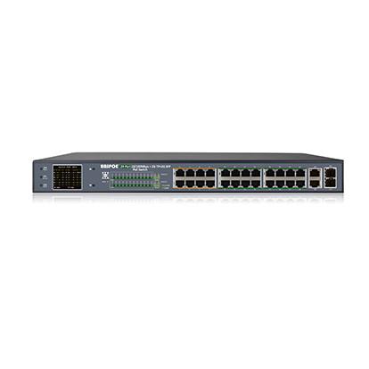 Коммутатор UNIPOE PM3028FSN-330 V2 (24 PoE+2 Uplink + 2 SFP)