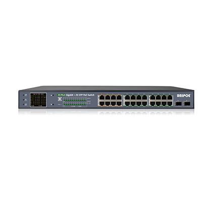 Коммутатор гигабитный UNIPOE PM3026GSNL-330 V2 (24 PoE + 2 SFP)