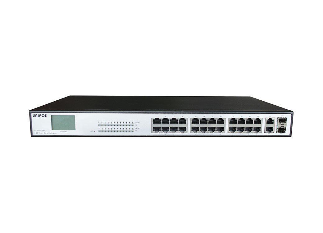 Коммутатор UNIPOE PM3028FSNL-420 V2 (24 PoE + 2 Uplink + 2 SFP)