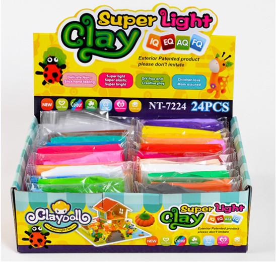 Пластилин Super Light Clay ( набор 24 цвета)