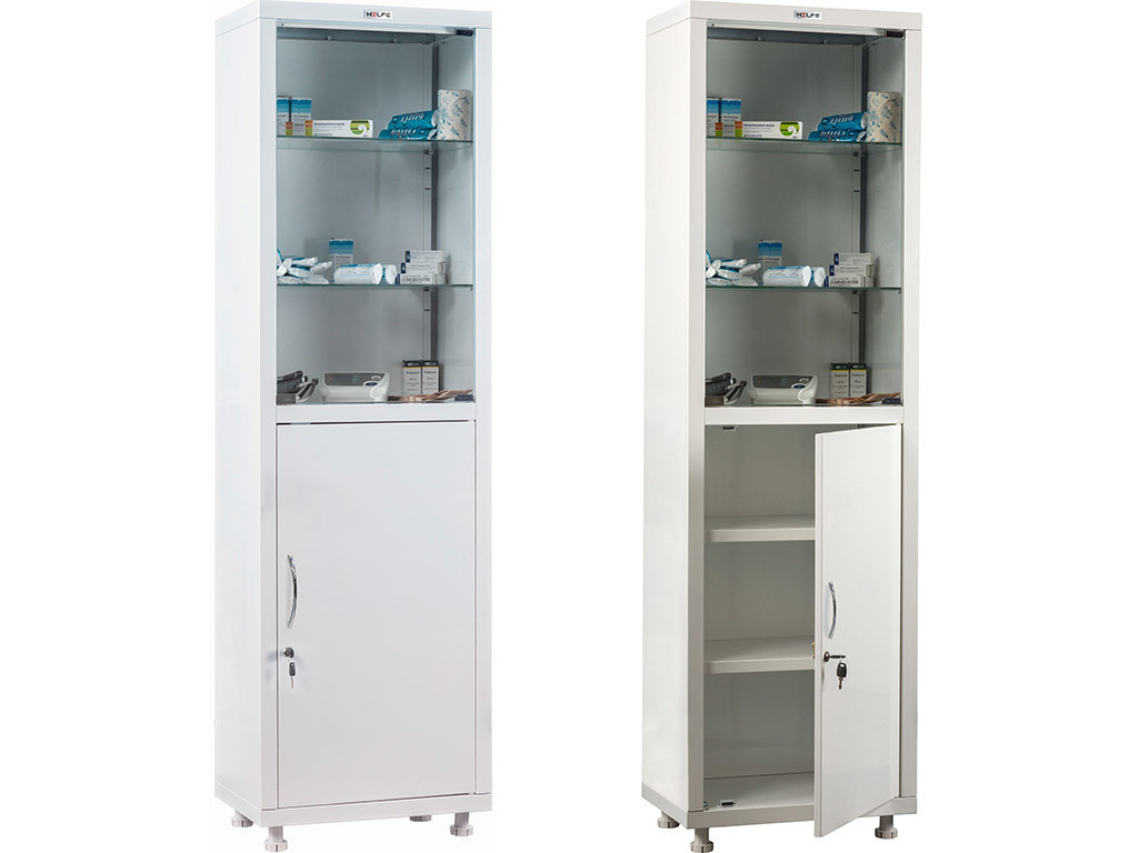 Медицинский шкаф HILFE МД 1 1650/SG