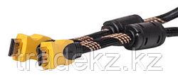 Видeo кабель PowerPlant HDMI - HDMI, 5m, позолоченные коннекторы, 1.3V, Nylon, Double ferrites