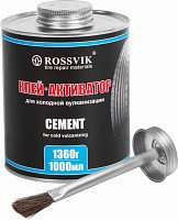Клей активатор ROSSVIK,1000 мл/1300 гр.(банка с кистью)