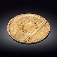 Тарелка бамбук 2 секции