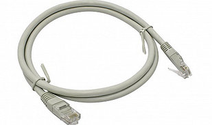 Патч корд  UTP Datarex категория 5e PVC 0,5 м, серый