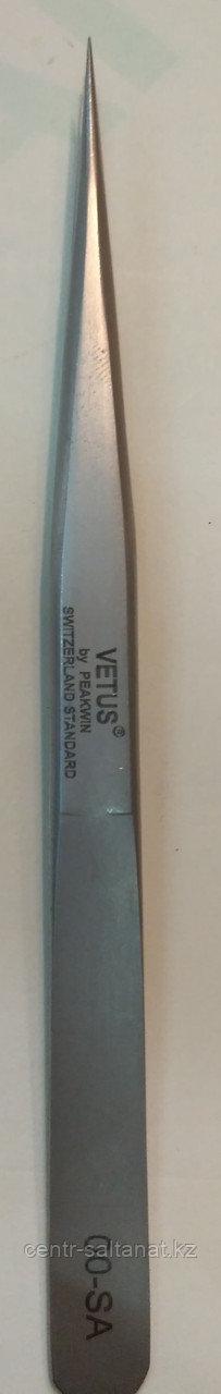 Пинцет для наращивания единичных ресниц прямой Vetus