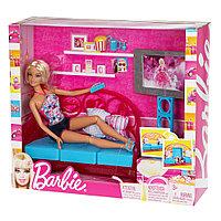 Барби Комната Вечер у телевизора Barbie, фото 1