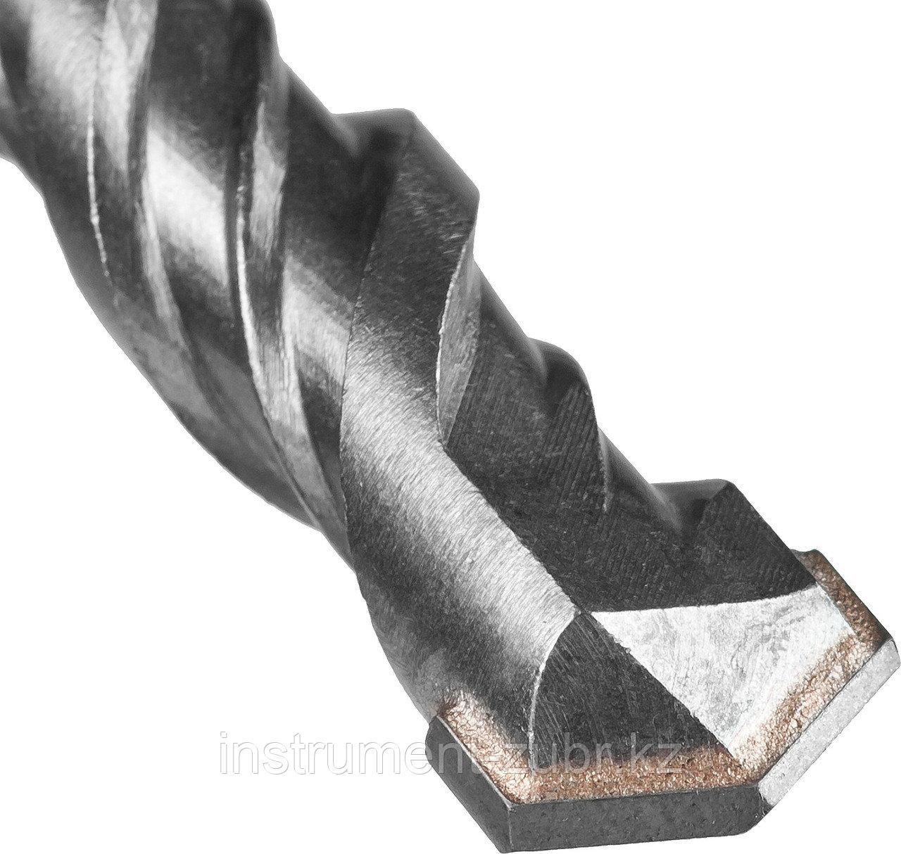 "Бур по бетону SDS-Plus ЗУБР ""МАСТЕР"", 2 резца, спираль 4С, 12х160мм"