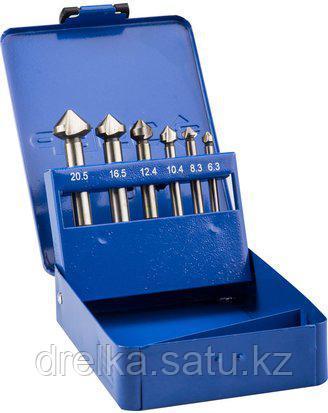 Набор ЗУБР Зенкеры ЭКСПЕРТ конусные с 3-я реж. кромками, сталь P6M5, для раззенковки М3, М4, М5, М6, М8, М10, фото 2