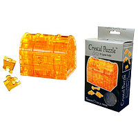 3D Crystal Puzzle Treasure - Box, 46psc Пазл Сундук с подсветкой, 46 деталей, фото 1