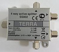 Сплиттер с усилением  TERRA SS002 4 отвода   950 - 2400 MHz