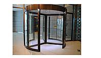 Радиусные и карусельные двери по размерам, изготовление на собственном оборудовании