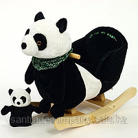 Rock my Baby,Качалка меховая панда JR2591B, фото 2