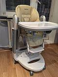 Детский стульчик для кормления Peg-Perego Tatamia Follow Me Paloma бежевый, фото 4