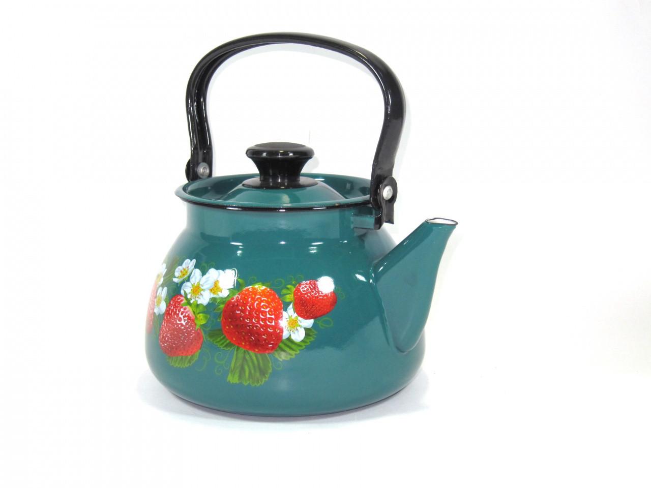 Чайник эмалированный  3 литра(бирюза)