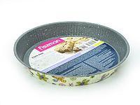 5611 FISSMAN Форма для выпечки пирога круглая 28x3,6 см с узором (углеродистая сталь с антипригарным покрытием