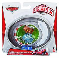Cars Mattel Micro Drifters 3 Pack Тачки Набор трех машинок Микро Дрифтеры Y1124, фото 1