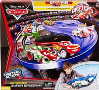 Cars Mattel Micro Drifters Drifting Action Motorized Super Speedway Тачки Трек с машинкой