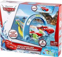 Cars Mattel World Grand Prix Splash Speedway Тачки Трек для ванной Скоростной заплыв с машинкой