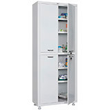 Медицинский шкаф двухстворчатый MD 2 1670/SS (1755х700х320 мм)