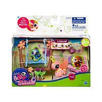 Littlest Pet Shop Walking, Hasbro Игровой набор с ходячим зверьком Бабочка, фото 1