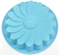 6670 FISSMAN Форма для выпечки РОМАШКА 22x4 см, цвет ЛАЗУРНЫЙ (силикон)