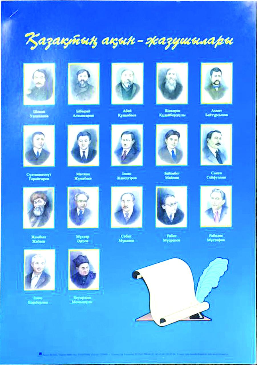 Плакат «Қазақтың ақын-жазушылары»