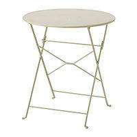 Стол складной САЛЬТХОЛЬМЕН бежевый ИКЕА, IKEA   , фото 1
