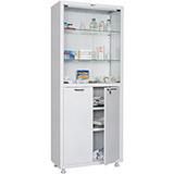 Медицинский шкаф двухстворчатый MD 2 1670/SG (1755х700х320 мм)