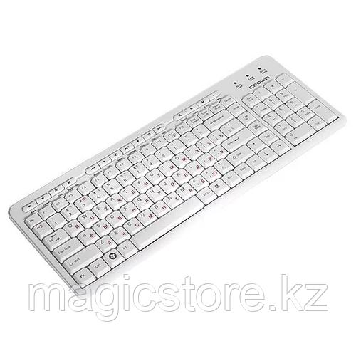 Клавиатура проводная Crown CMМK-666 USB, белая