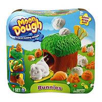 Пластилин Moon Dough Bunnies Playset, Spin Master Набор для лепки Кролики