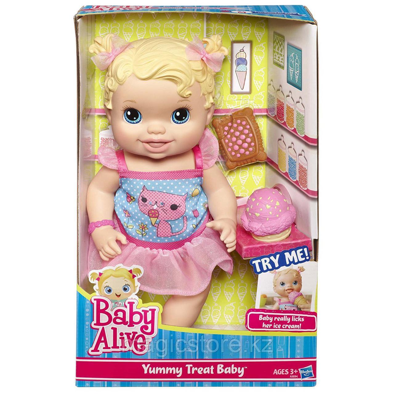 Пупс Hasbro Baby Alive Yummy Treat Baby Угощения для малышки - фото 1