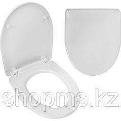 Сиденье для унитаза Идеал/Виктория дюропластовое, сталь, 20975009