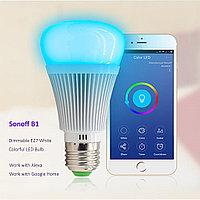 Sonoff B1 регулируемая цветная лампа RGB по WiFi, фото 1