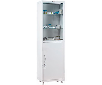 Медицинский шкаф одностворчатый MD 1 1650/SG (1755х500х320 мм)