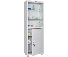 Медицинский шкаф одностворчатый MD 1 1760/SG (1850х600х400 мм)