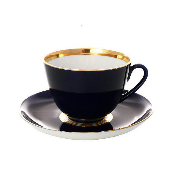 Чашка с блюдцем Ночь. Императорский фарфоровый завод
