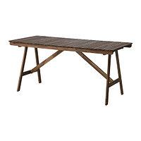 Стол садовый ФАЛЬХОЛЬМЕН серо-коричневый ИКЕА, IKEA, фото 1