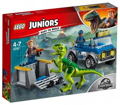 Lego juniors - Грузовик спасателей для перевозки раптора