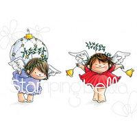 Набор резиновых штампов Angel Squidgies Bells & Ornament
