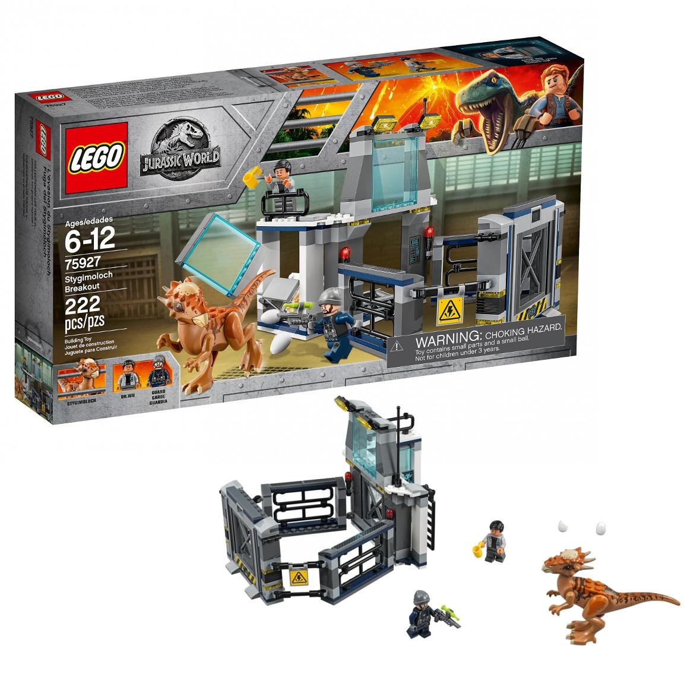 Lego Jurassic Побег стигимолоха из лаборатории  Лего Мир Юрского периода