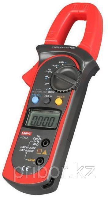 Токоизмерительные клещи до 400 А (AC/DC) с функцией мультиметра UT203. Внесены в реестр СИ РК