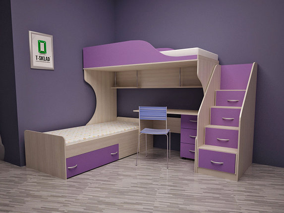Детский двухъярусный кровать, фото 2