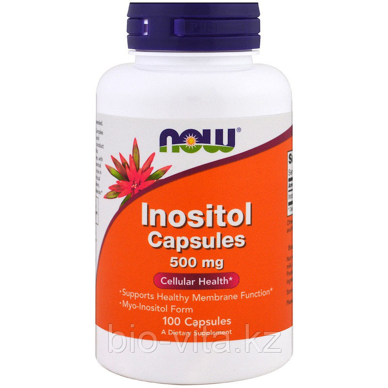 Inositol Инозитол (В8) , 500 mg, 100 капсул. Now Foods