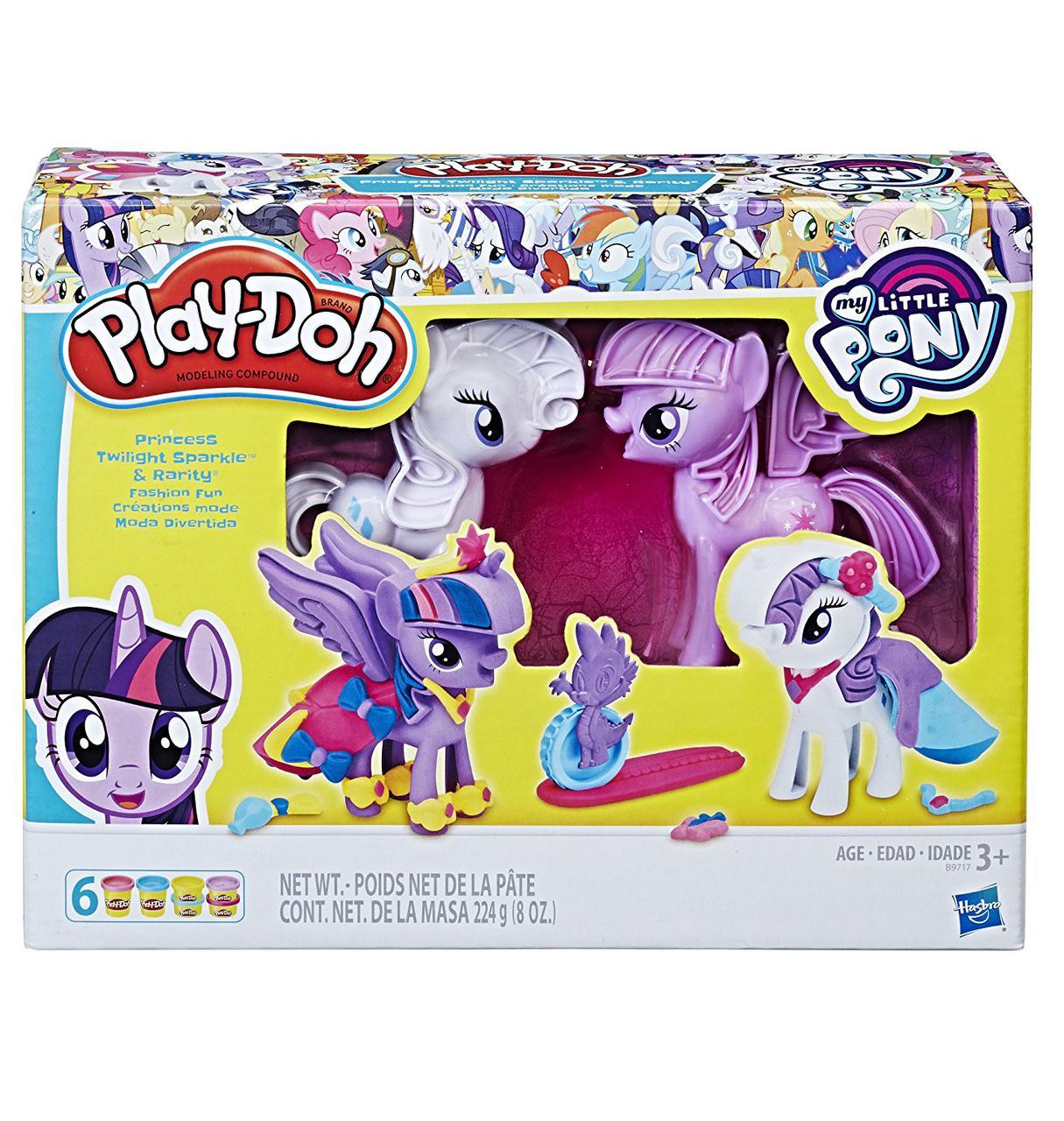 "Hasbro Play Doh Игровой набор ""Твайлайт и Рарити"" (Плэй-До)"