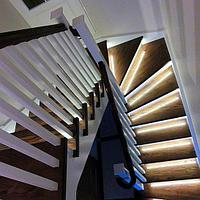 Монтаж Автоматической подсветки лестницы
