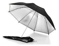 2 зонта на отражение (серебро) на стойках с патронами под лампу и 3-мя фонами, фото 3